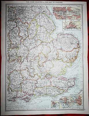 1906 Map - The East Of England