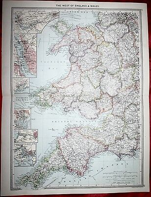 1906 Map - The West Of England & Wales
