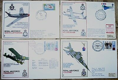 Four RAF Commemorative Covers From The 1970's (Grp 3)