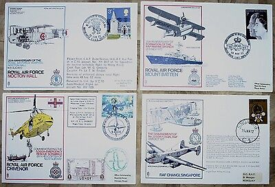 Four RAF Commemorative Covers From The 1970's (Grp 4)