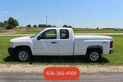 2007 Chevrolet Silverado 1500 Work Truck 2007 Work Truck Used 5.3L V8 4wd Xcab White Automatic 1 Owner Clean Bed Cover