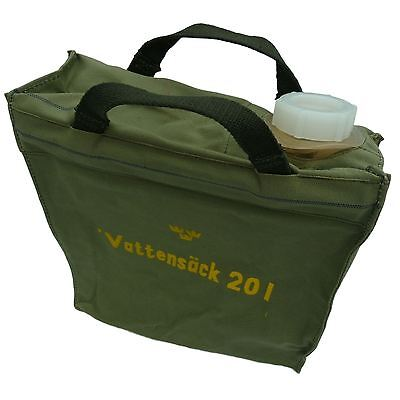 Swedish Army Water Carrier 20 l litres Canvas Container Genuine Military Surplus