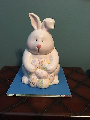 Bunny with Easter Eggs Cookie Jar-Made by CKR