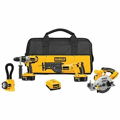 DeWALT DCK450X 18 v XRP Cordless Drill Circular & Reciprocating Saw Combo NEW