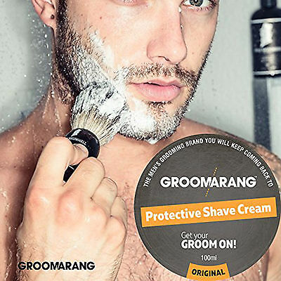 Groomarang Luxury Protective Shave Cream 100% Natural, Organic & Vegan 100ml