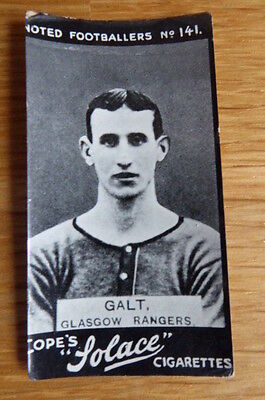 Tobacco Card Cope Noted Footballers # 141 Galt Rangers 1910