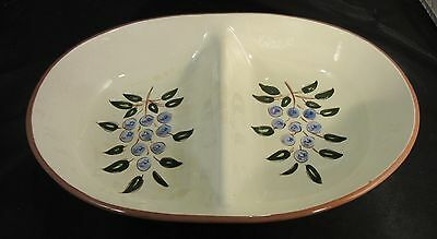Stangl Blue Berry 10.5 Inch Divided Serving Dish