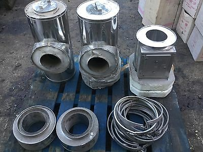 "Job Lot Insulated 150mm 6"" Stainless Commercial Twin Wall Piping Metalbestos"