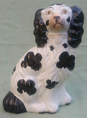 Antique Staffordshire Figure of a King Charles Spaniel