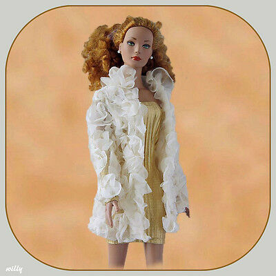 """Glamorous! Gold Color Dress With A Long  Beige Blouse On Top  Unique Fabric """"16!"""