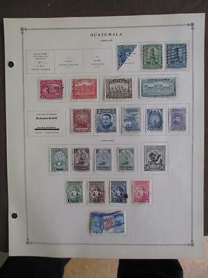 About 1940-1955 Guatemala On Scott Pages - Loaded - Values Unchecked - (t11)