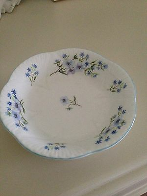 "SHELLY  Bone China England Blue Rock Pattern Dessert  SMALL DISH TRY 5 1/2"" old"