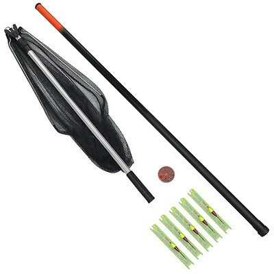 New Fishing Kit Set with Telescopic Rod and Landing Net Lines Weight Plastic Box