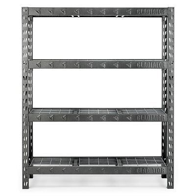 Gladiator Welded Steel Garage Shelving Unit 4-Tier | FREE Shipping