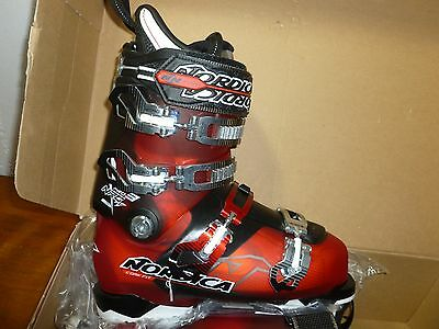 New!! Nordica NRGy Pro 3 Ski Boots Red Black 255 mondo 7.5 US, Brand New In Box