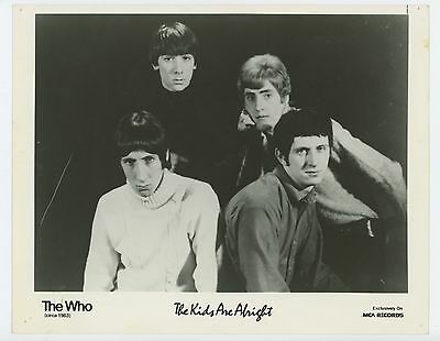 """The Who 1979 The Kids Are Alright MCA Records 8"""" x 10"""" Promo glossy Photo"""
