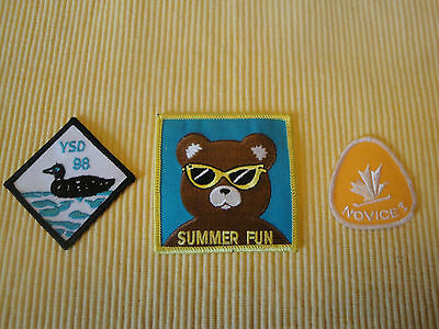 Lot Of 3 Different Canadian Girl Guide Badges Ontario Badge