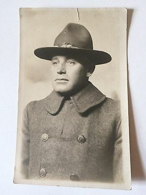 WW1 RPPC Postcard Photo Soldier Doughboy Vintage