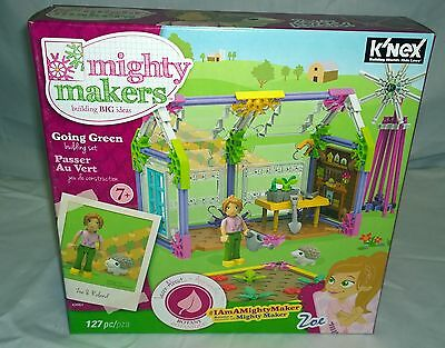 New KNEX MIGHTY MAKERS GOING GREEN WITH ZOE & ROLAND 43551 127 PIECES