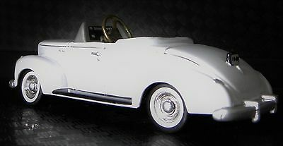 1940s Ford Pedal Car A White Vintage Classic Hot T Rod Midget Metal Model 1930s