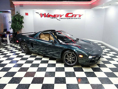 1995 Acura NSX 2dr Sport Open Top Manual 95 Acura NSX-T Targa Coupe 5-Spd Only 60k Miles 1 Of Only 61 In Brooklands Green
