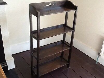 Vintage Solid Wood 4 Shelf Open Bookcase