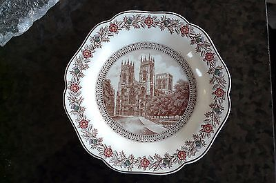 Lner York Cathedral Plate C1930S By Joshua Wedgwood  English Rose Scotch Thistle