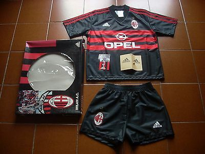 Rare Milan 1998-99 90 Kit Box Adidas Opel Shirt Shorts Kids Boban Weah Leonardo