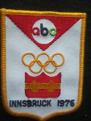 Vintage 1976 Innsbruck Olympic Patch - ABC Television - Ski - Figure Skating