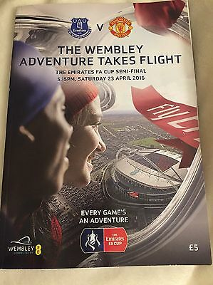 Manchester United FC vs Everton FC FA Cup Semi Final Programme Matchday MUFC