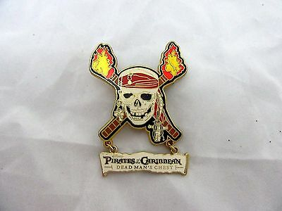 Disney Pin Pirates Of The Caribbean Dead Man's Chest Skull And Crossbones