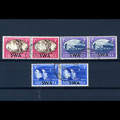 SOUTH WEST AFRICA 1945 Victory Pairs. SG 131-3. Fine Used. (CA48A)