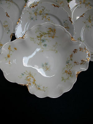 Haviland #9196 (1907+) Under Plate (For Mayo Bowl)- Yellow/blue Floral- Rare!