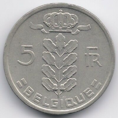 Belgium : 5 Francs 1981 French Legend