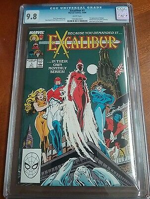 Excalibur  #1 Cgc 9.8 White Pages First Appearance Widget
