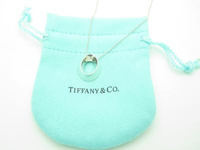 """RARE Tiffany & Co. Sterling Silver Frank Gehry Morph Pendant Necklace 16"""""""