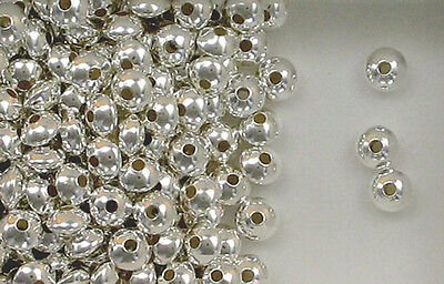 925 Sterling Silver 7mm Seamless Rondelle Spacer Beads, Choice of Lot Size