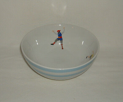 Cravendale Striped Breakfast Cereal Bowl  Pirate Cyclist Cow - Collectable