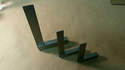 """Engineer's Squares Machinist 90º Right Angle Set - 2"""" 4"""" 6"""" Din Standard 875"""