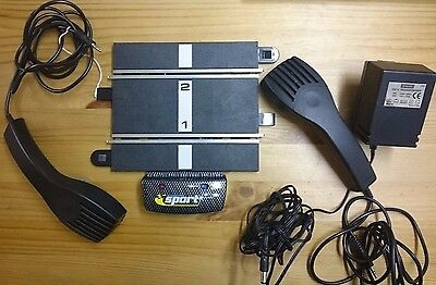 Scalextric C8217 Power base, 2 x Controllers and Mains Transformer - used