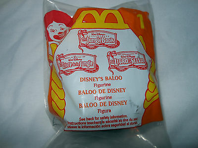 mcdonalds happy meal toy Disney's Baloo Jungle Book #1 1997