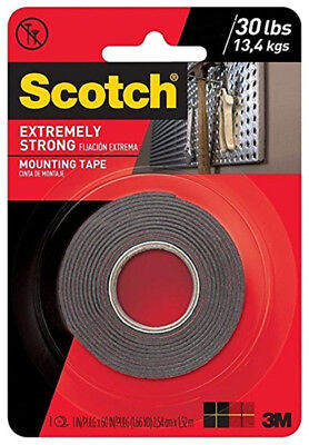 "3M Scotch Extremely Strong Double Sided Mounting Tape Indoor Outdoor 1"" x 60"""