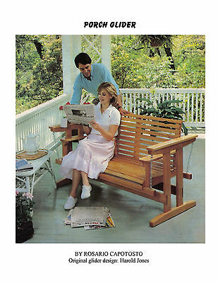 Build a Summer Swing Porch Glider Plans & building Notes on CD