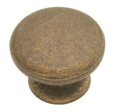 """10 Cabinet Knobs Hickory Hardware Belwith 1-1/4"""" PA1216-WOA Handle Pulls $1 each"""