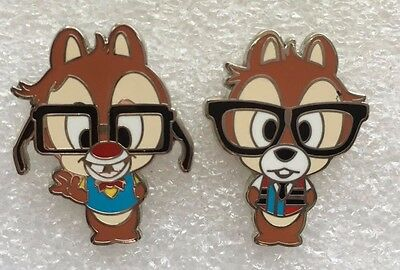 Disney Pin - Nerds Rock! Collection - Chip and Dale Only - 2 pins
