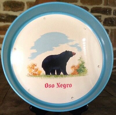 Oso Negro Mexican Vodka Metal Beer Tray. Black Bear Graphic. Made In Mexico