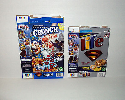 Superman Vintage Cereal Box Lot Cap'n Crunch & Life Limited Edition Collector's