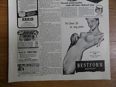 1942 Bestform Bra Brassieres Foundations Ad No Finer Fit at Any Price