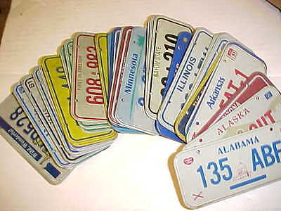 Complete SET 1981 POST CEREAL MINI MINIATURE BICYCLE LICENSE PLATE US States