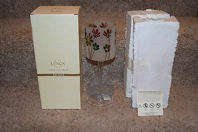 Lenox American By Design Home Collection Floral Footed Candle Holder in box